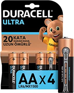 Duracell Ultra Alkalin AA Kalem Piller, 4'lü paket