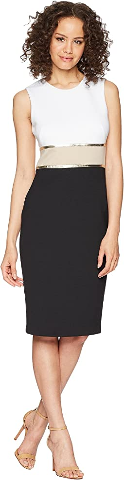 Color Block Sheath Dress CD8M14KT