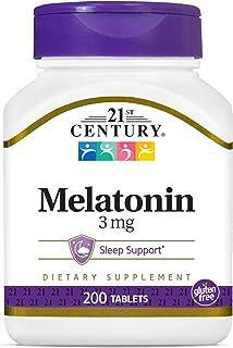 21st Century, Melatonin, Relaxation & Sleep Support, 3 mg, 200 Tablets