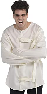 amscan Asylum Straitjacket Halloween Costume for Adults, Cream with Black Print, Large/Extra Large, 8405896