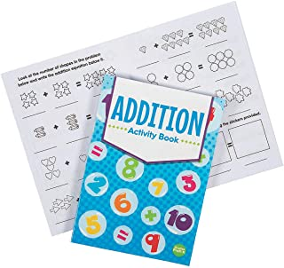 Fun Express Math Addition Activity Book W/ Stickers - 12 Pieces - Educational and Learning Activities for Kids