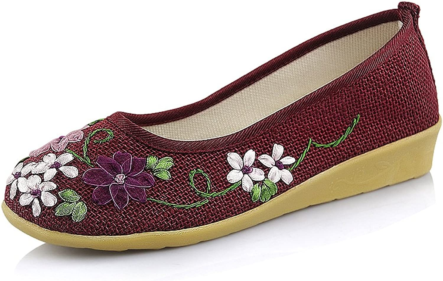 Women's embroidered shoes Spring national style casual shoes ( color   Red , Size   US 6\UK 5\EUR 37 )