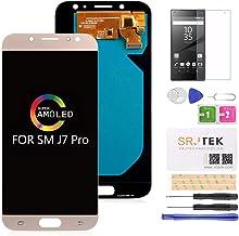 Reemplazo de Pantalla LCD para Samsung J7 Pro SM-J730G / DS, Galaxy J730F J730G J730GM J730DS Super AMOLED Pantalla LCD y Pantalla táctil Digitalizador Reparación de ensamblaje de Partes (Oro)