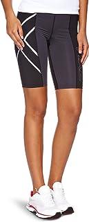 2XU Women's Elite Compression Shorts (Black/Steel, Medium)