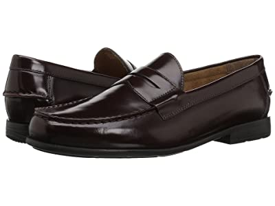 Nunn Bush Drexel Moc Toe Penny Loafer with KORE Walking Comfort Technology (Burgundy) Men