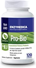 Enzymedica, Pro-Bio, Shelf-Stable Probiotic Supplement to Support Healthy Digestion, 10 Billion CFU, Vegetarian, 120 Capsu...