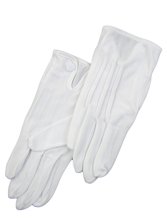 カカドゥ成功した振りかける紳士白ナイロン手袋 105 シロ L