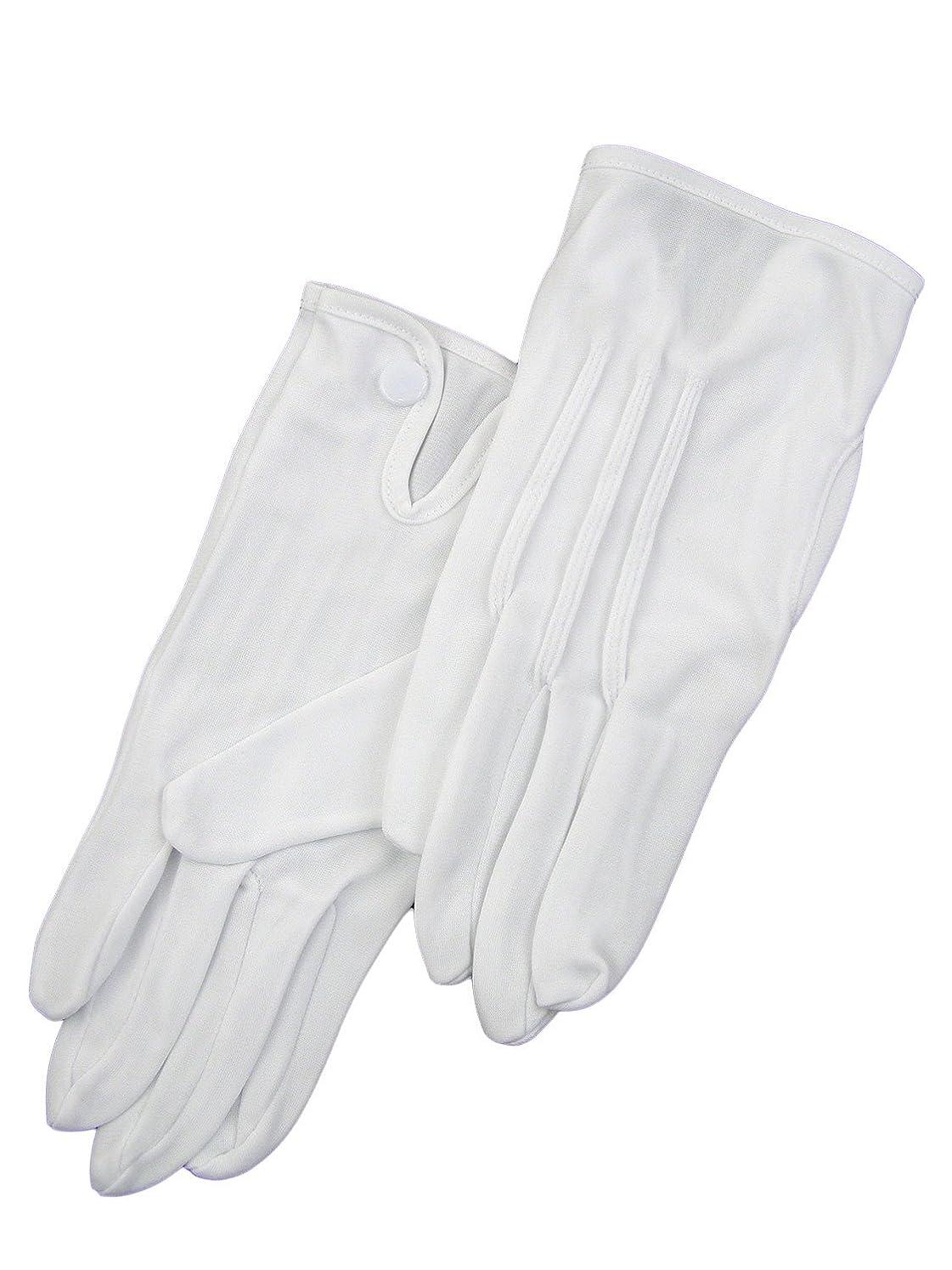 ジョガーポスト印象派誘う紳士白ナイロン手袋 105 シロ M