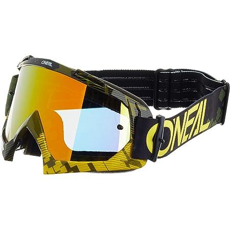 O Neal Fahrrad Motocross Brille Mx Mtb Dh Downhill Freeride Hochwertige 1 2 Mm 3d Linse Für Ultimative Klarheit Uv Schutz B 10 Goggle Erwachsene Unisex Neon Gelb Grün One Size Sport