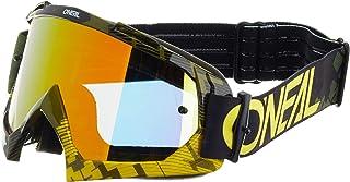 O'NEAL | Fahrrad & Motocross Brille | MX MTB DH Downhill Freeride | Hochwertige 1,2 mm 3D Linse für ultimative Klarheit, UV Schutz | B 10 Goggle | Erwachsene Unisex | Neon Gelb Grün | One Size