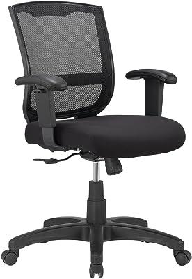 Eurotech - Malla para Silla de Trabajo, Color Negro