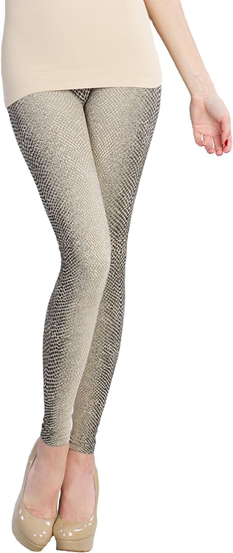NIKIBIKI Double Fiber Brocade Thick Leggings in Snake Skin Print NB5421