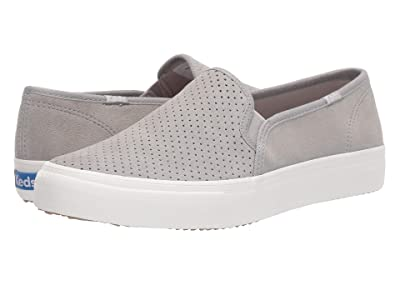 Keds Double Decker Perf Suede (Drizzle Gray) Women