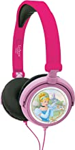Disney HP010DP Princesas Auriculares estéreo, Cascos Audio con Diadema Ajustable y Plegable (Lexibook, Color Rosa, 20.4 x 16.8 x 7.3 cm