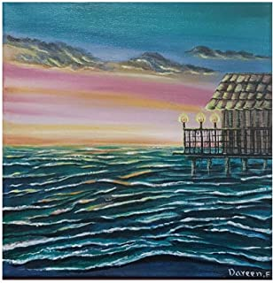 Hand painted sea view painting size 30 × 30