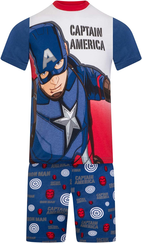 Marvel - Los Vengadores - Pijama con pantalón Corto y ...