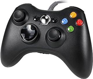 Xbox 360 コントローラー Pekyok GP14 有線 ゲームパッド ケーブル 互換 振動機能搭載 高耐久ボタン Xbox 360/PCに対応 互換品 サードパーティ製品 (ブラック)