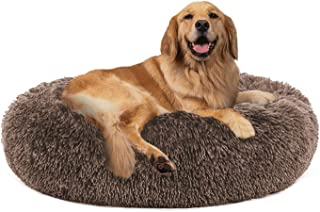 PUPPBUDD Calming Dog Bed Cat Bed Donut, Faux Fur Pet Bed Self-Warming Donut Cuddler, Comfortable Round Plush Dog Beds for ...
