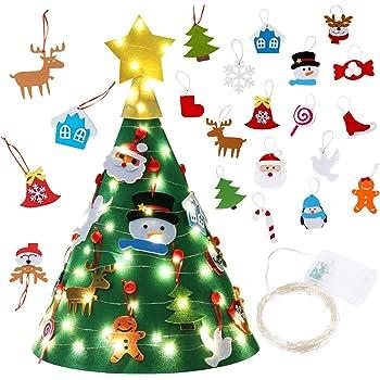 Albero Di Natale 3d.Diy Albero Di Natale 3d Albero Di Natale In Feltro Con 30 Pz Ornamenti Pezzi Staccabili