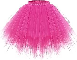 Women's Tutu Halloween Tulle Skirt 50s Vintage Ballet Bubble Dance Skirts