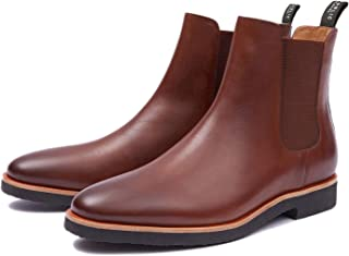 New Republic Men's Huxley Leather Chelsea Boot with Crepe Outsole - Tan