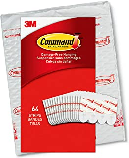 Command Small Refill Replacement Strips, White, 64-Strips - Easy to Open Packaging