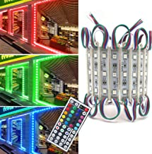 Storefront Lights Pomelotree 3 Led 40PCS 5050 LED Module Lights Waterproof LED Window Lights Super Bright Decorative Lights with Tape Adhesive for Store Advertising Signs 20FT (2 Pack) (RGB)