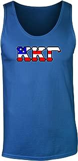 Fashion Greek Kappa Kappa Gamma American Flag Tank Top by