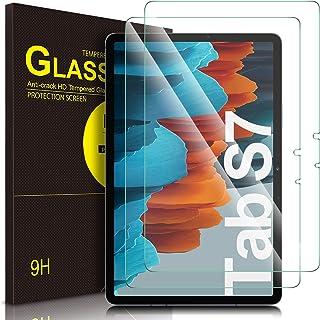 واقي شاشة ELTD لهاتف Samsung Galaxy Tab S7، وواقي شاشة Samsung Galaxy Tab S7، واقي شاشة شفاف من الزجاج المبخر لهاتف Samsun...