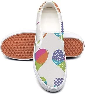 RegiDreae Canvas Slip on Sneakers for Women Floral Rainbow Fashion Sneaker