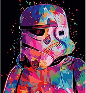 DIY Paint by Number Kit On Canvas for Adults,EVERMARKET Star Wars Acrylic Painting by Numbers Canvas Painting by Numbers A...