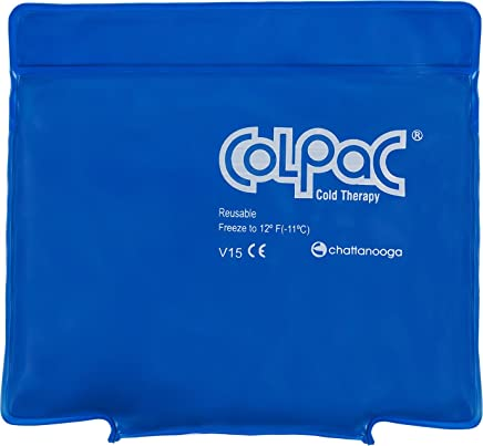 "Chattanooga ColPac Cold Therapy, Blue Vinyl, Small/Quarter-Size Cold Pack (5.5"" x 7.5"")"