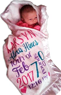 personalised birth blanket