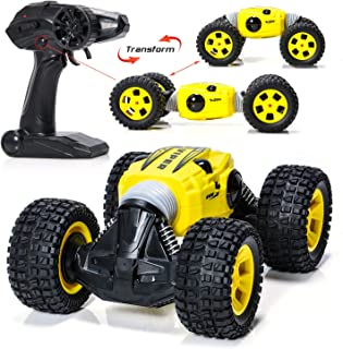 EXERCISE N PLAY RC Car, 2.4 GHZ R Speed Transform Car Remote Control Car Kids Toys Vehicles Buggy Hobby Car Transform Car Best Gift
