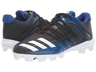 adidas Kids Afterburner 6 MD K Baseball (Toddler/Little Kid/Big Kid) (Black/White/Collegiate Royal) Kids Shoes