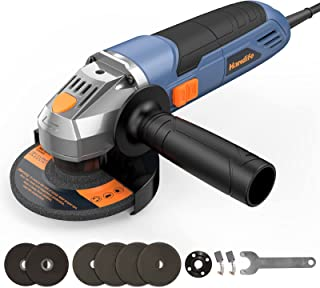 Small Angle Grinder Tool with Adjustable Speed, 900W Mini Disc Cutter 125mm, 12000RPM, with 2 Cutting Wheel and 4 Grinding...
