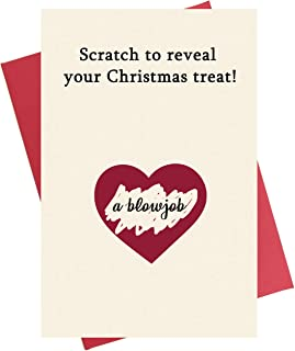 Scratch Christmas Card, Funny Interactive Merry Xmas Greeting Card for Husband Boyfriend Fiance