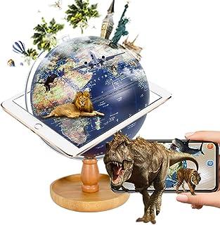 地球儀 子供 AR しゃべる地球儀 球径20cm 日本語 3Dで学べる LEDライト付き 3WAY 知育玩具 ベッドサイドランプ 地勢タイプ 小物収納可能 回転可能 真珠フィルム 雰囲気が良い コンパクト 防水性 先生おすすめ小学生の地球儀 子...