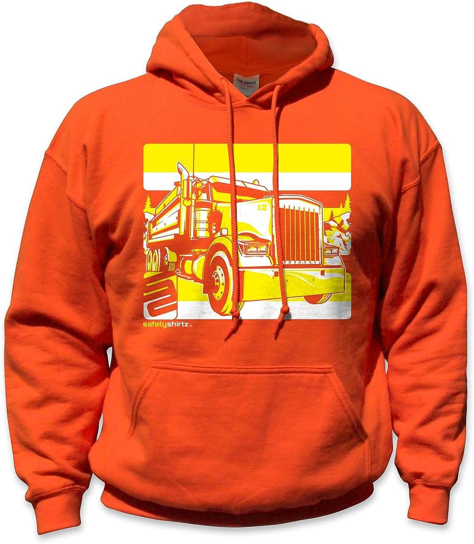 SafetyShirtz Dump Truck Safety Hoody Orange/Yellow