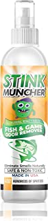 Life Miracle Stink Muncher Fish and Game Natural Enzyme Odor Eliminator and Remover Spray | Smell Proof Your Fishing, Hunt...