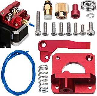 Sunhokey MK8 Extruder Upgraded Replacement, Aluminum Drive Feed 3D Printer Extruders Kit for Creality CR-10, CR-10S, CR-10 S4, CR-10 S5, RepRap Prusa i3, 1.75mm,1M Dark Blue PTFE Tube(Right)