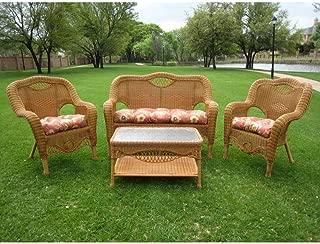 International Caravan Furniture Riviera 4-Piece Outdoor Seating Group