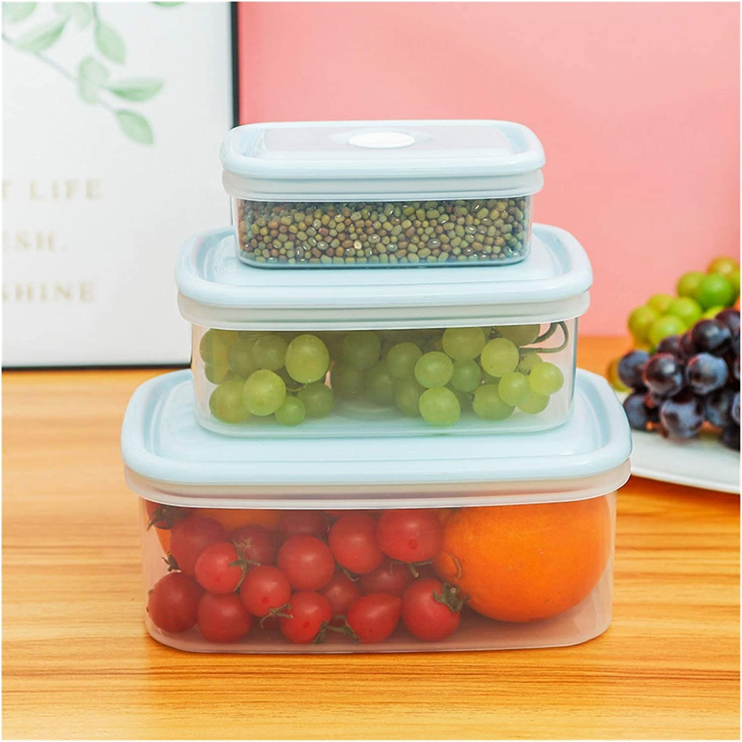 Airtight Containers Food Storage Container Transparent shopping B NEW