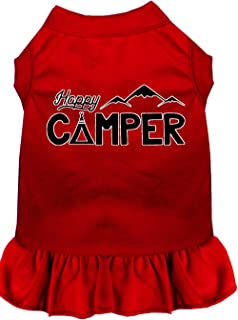 Mirage Pet Products 58-59 RDXXL Happy Camper Screen Print Dog Dress, XX-Large, Red