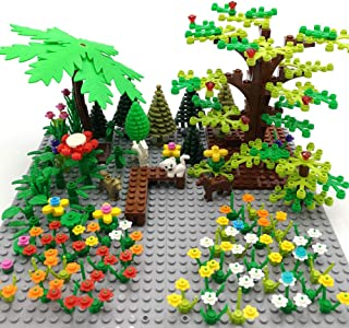 SPRITE WORLD Botanical Brick Block Building Set Toy Plant Tree Flower Garden Park Part Accessories