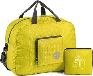 Bolsa de viaje plegable de nailon resistente al agua, D-amarillo 20l (Amarillo) - WF30X