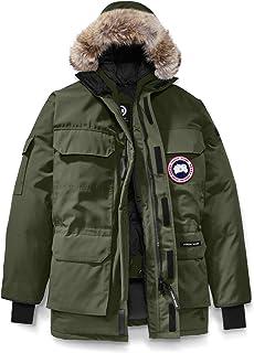 [カナダグース] CANADA GOOSE Men`s Expedition Relaxed Fit Genuine Coyote Fur Trim Down Jacket メンズパーカー [Military Green] [並行輸入品]