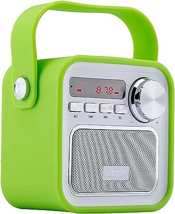 Altoparlanti Bluetooth con Radio, Radio Portatile FM Wireless della Cucina - 5W 2200mAh Basso Potente, Ingresso USB e AUX TF Scheda, Microfono Incorporato, per Smartphone e Tablet e PC