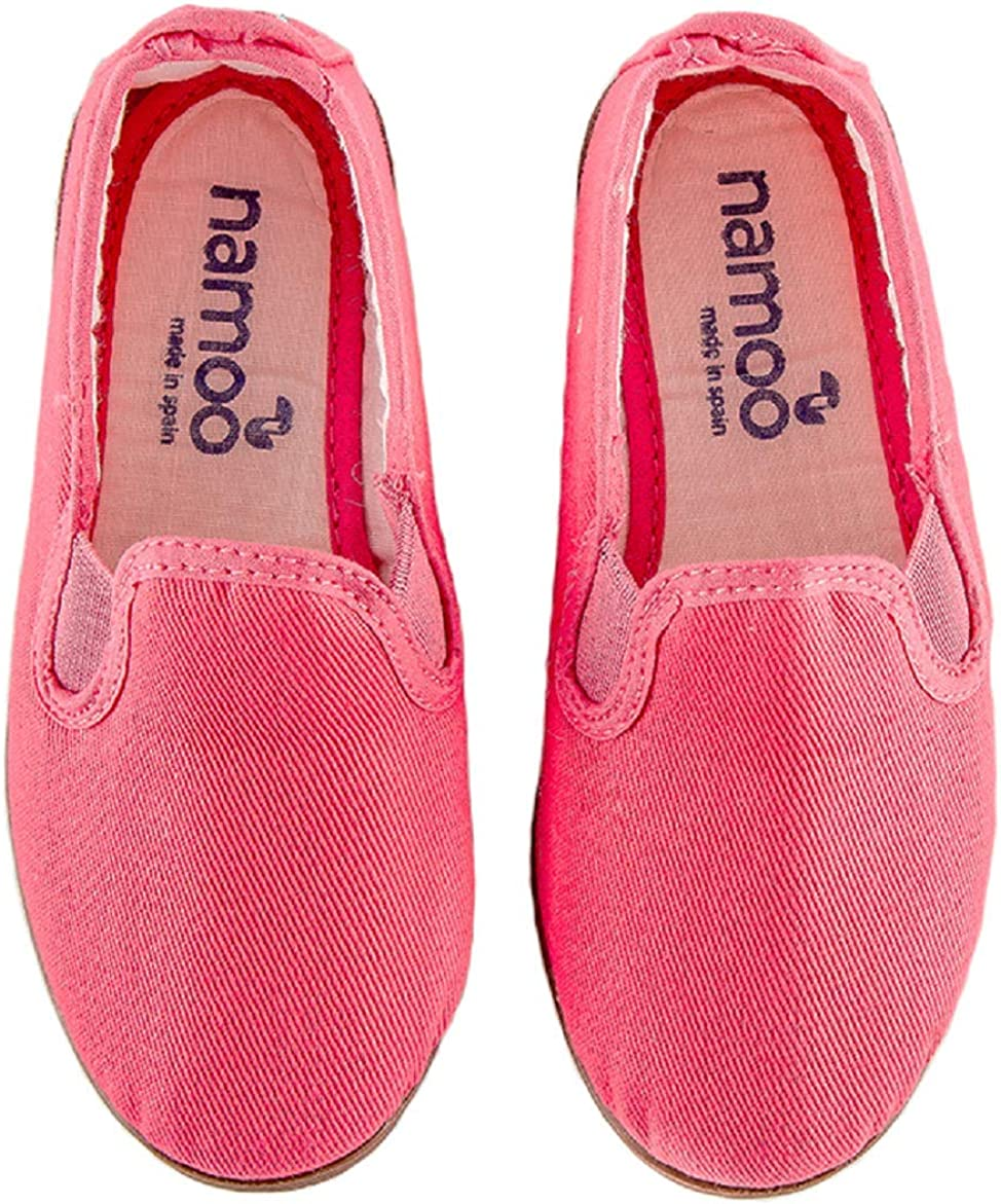 Namoo Kids Slip On Canvas Shoes for Boys and Girls, Cotton Rubber Sole, Baby-Toddler-Kid
