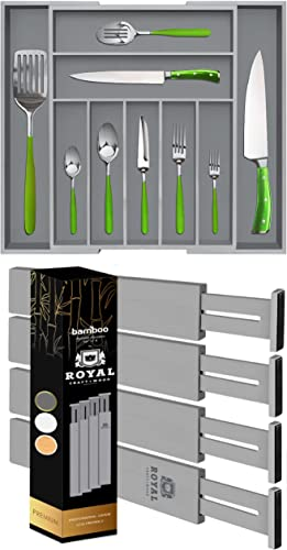 popular Gray Silverware Drawer Organizer anf Gray popular popular Drawer Dividers 17IN sale
